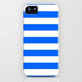 China Blue and White Medium Stripes iPhone Case