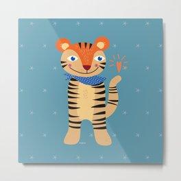 Little Tiger Metal Print