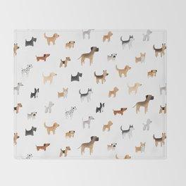 Lots of Cute Doggos Throw Blanket