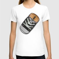 vans T-shirts featuring Cute black Vans all star baby shoes apple iPhone 4 4s 5 5s 5c, ipod, ipad, pillow case and tshirt by Three Second