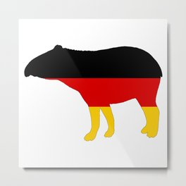 German Flag - Tapir Metal Print