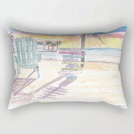 Southernmost Beach Key West Morning Glory Rectangular Pillow