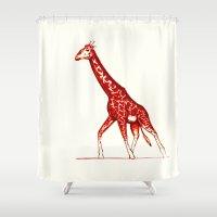 blush Shower Curtains featuring Blush by Alex Spurrier