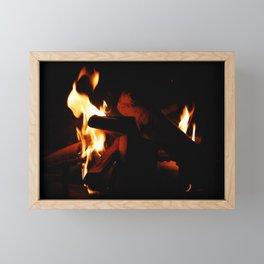 First Flame Framed Mini Art Print