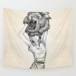 The Lion's Roar Wall Tapestry
