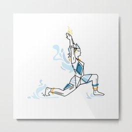Yoga geometric asanas - low lunge pose Metal Print