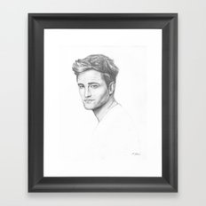 Robert Pattinson Framed Art Print
