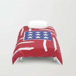 Patriotic Finger Paint Duvet Cover