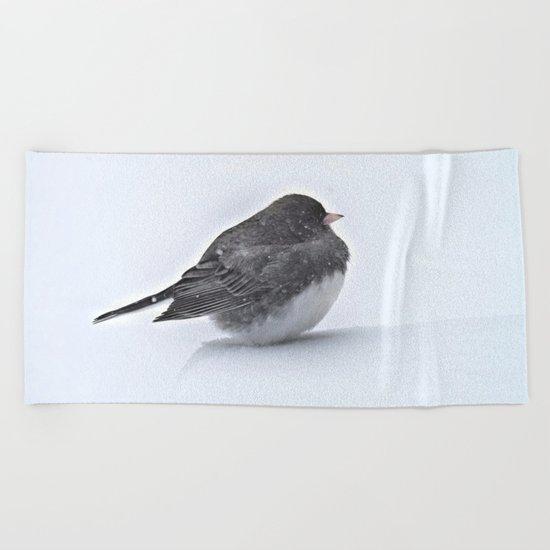 Brave Bird in a Blizzard Beach Towel