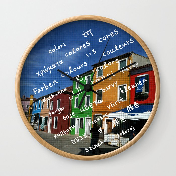 Burano 1 Wall Clock