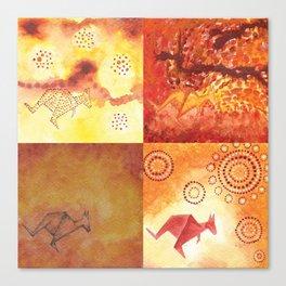 4 Kangaroos Canvas Print