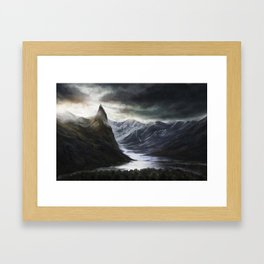 Ominous Mountains Framed Art Print