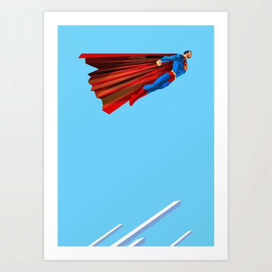 Man Up (blue steel variant) Art Print