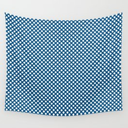 Snorkel Blue and White Polka Dots Wall Tapestry