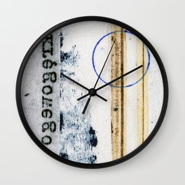 Polish Lines Abstract Collage Wall Clock