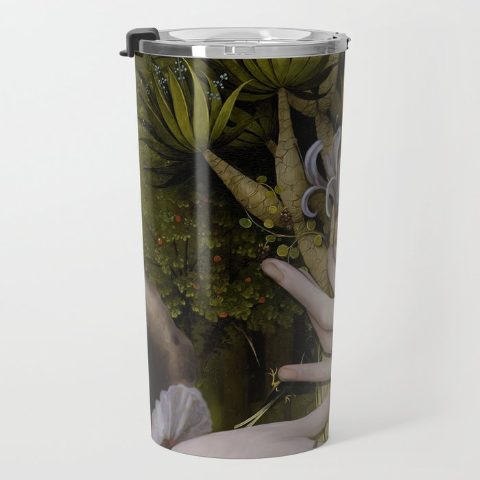 """""""The hands of Bosch and the Spring"""" Travel Mug"""