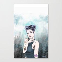 Stoner Babe Kitten Nymph Canvas Print