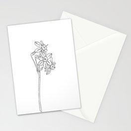 Daffodil flower botanical illustration - Lani Stationery Cards