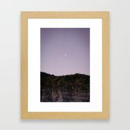 Half Moon in Muriwai Framed Art Print
