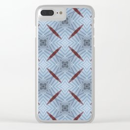 American Folk Red & Blue No. 12 Clear iPhone Case