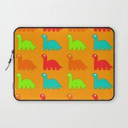 Cute Dino Pattern Walking Dinosaurs Laptop Sleeve