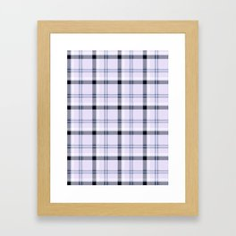 lilac plaid Framed Art Print