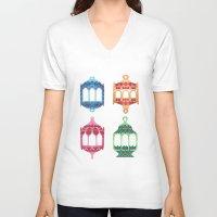 islam V-neck T-shirts featuring Fanous by haidishabrina
