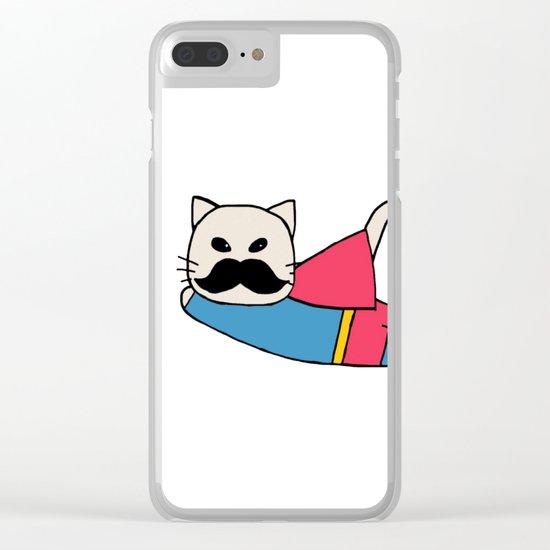 super cat-326 Clear iPhone Case