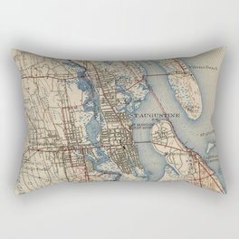 Vintage Map of St. Augustine Florida (1937) Rectangular Pillow