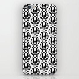 Tulip Pattern Black & White iPhone Skin
