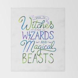 AVPM - Back To Hogwarts Throw Blanket