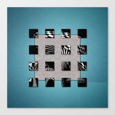 SQUARE AMBIENCE - Blue Sports Canvas Print
