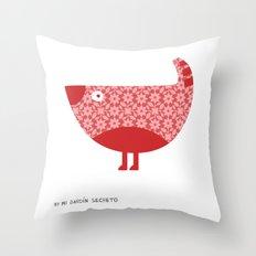 KOKORA (red) Throw Pillow