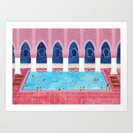 Moroccan Pool Art Print