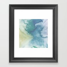 Watercolor blue Framed Art Print