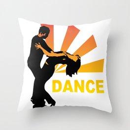 dancing couple silhouette - brazilian zouk Throw Pillow