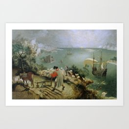 Pieter Bruegel the Elder - Landscape with the Fall of Icarus Art Print
