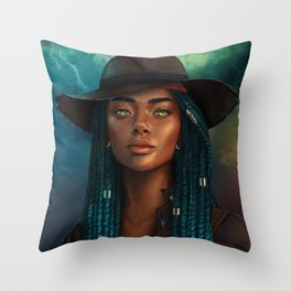 Storm Mistress Throw Pillow