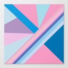 Trendy modern pink blue abstract pattern  Canvas Print
