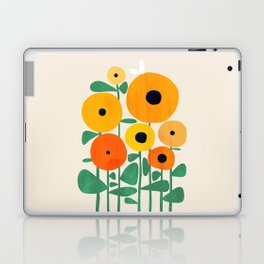 Sunflower and Bee Laptop & iPad Skin