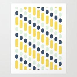 Hello Sunshine Dots and Dashes Art Print