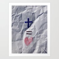 Jesus = Love Art Print