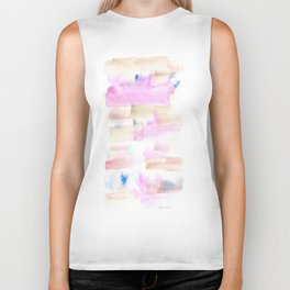 170527 Back to Basic Pastel Watercolour 20  |Modern Watercolor Art | Abstract Watercolors Biker Tank