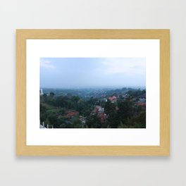 from the mountains.. Framed Art Print