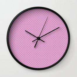 Dots Soft Pink Wall Clock