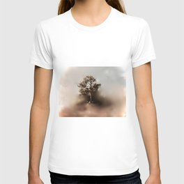 Misty Tree of Life on the Coastal Edge T-shirt