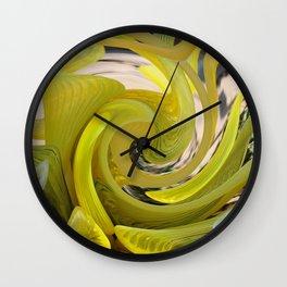 Yellow Abstract Wall Clock