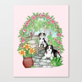 Two Little Dogs Canvas Print