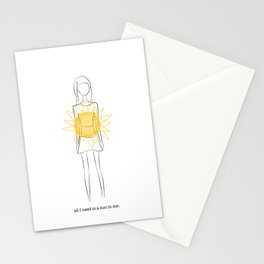 all I need is a sun in me Stationery Cards