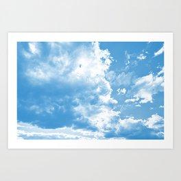 cloudy sky 2 wb Art Print